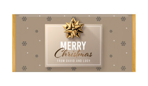 Glossy Gift - Gold Personalised Christmas Chocolate Bar
