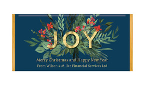 Joy Personalised Christmas Chocolate Bar