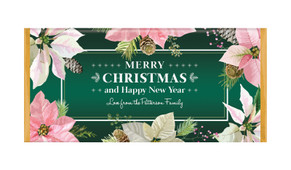 Pink On Green Personalised Christmas Chocolate Bar