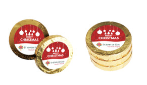 Corporate Personalised Christmas Chocolate Coins