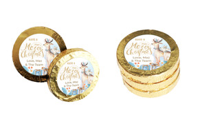 Deer Watercolour Personalised Christmas Chocolate Coins