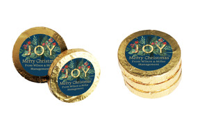 Joy Personalised Christmas Chocolate Coins