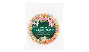Pink On Green Custom Christmas Giant Chocolate Freckle