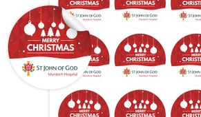 Corporate Christmas Personalised 65mm Labels