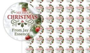 Bokeh Tree Christmas Personalised 25mm Labels
