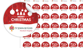Corporate Christmas Personalised 25mm Labels