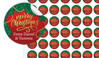 Red Festive Christmas Personalised 25mm Labels