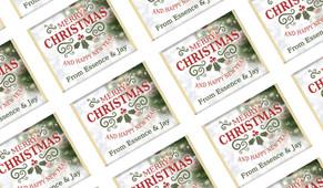 Bokeh Tree Personalised Christmas Mini Chocolates