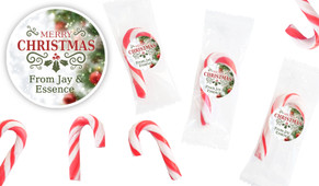Bokeh Tree Personalised Mini Candy Canes