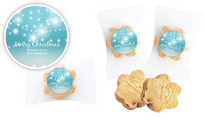 Festive Bunting Bite-Size Personalised Cookie 5g