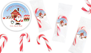 Santas Workshop Personalised Mini Candy Canes
