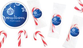 Crystal Baubles Personalised Mini Candy Canes