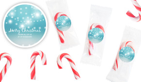 Festive Bunting Personalised Mini Candy Canes
