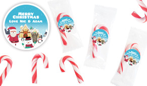 At The North Pole Personalised Mini Candy Canes