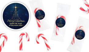 Blue Night Personalised Mini Candy Canes