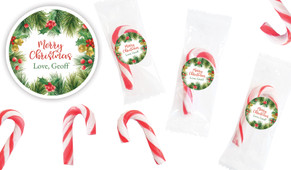 Branch Border Personalised Mini Candy Canes