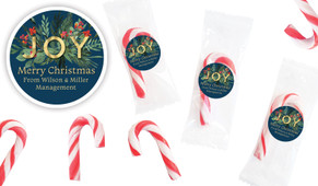 Joy Personalised Mini Candy Canes