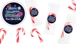 Neon Personalised Mini Candy Canes