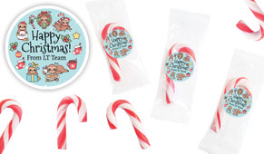 Sloth Personalised Mini Candy Canes