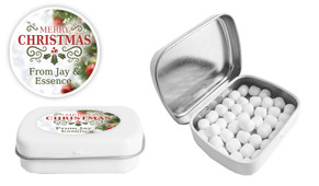 Bokeh Tree Christmas Personalised Mint Tin
