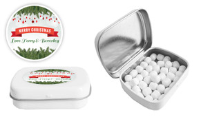 Branches And Banner Christmas Personalised Mint Tin