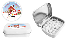 Santas Workshop Christmas Personalised Mint Tin