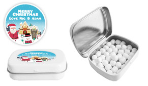 At The North Pole Christmas Personalised Mint Tin
