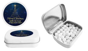 Blue Night Christmas Personalised Mint Tin