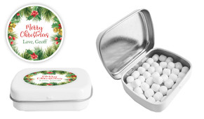 Branch Border Christmas Personalised Mint Tin
