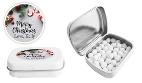 Christmas Background Personalised Mint Tin