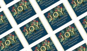 Joy Personalised Christmas Mini Chocolates