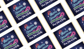 Neon Personalised Christmas Mini Chocolates