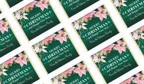Pink On Green Personalised Christmas Mini Chocolates