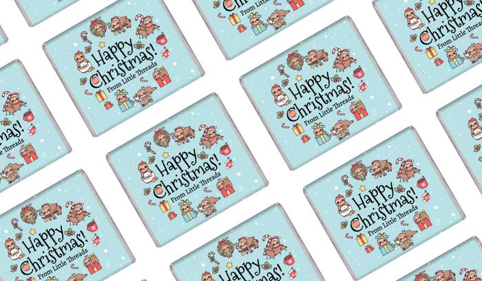Sloths Personalised Christmas Mini Chocolates