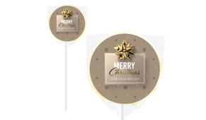 Glossy Gift Gold Christmas Personalised Lollipops