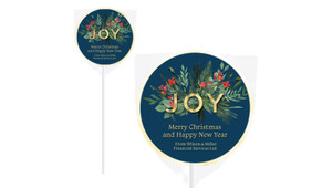 Joy Christmas Personalised Lollipops