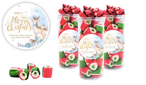 Deer Watercolour Christmas Rock Candy Tube