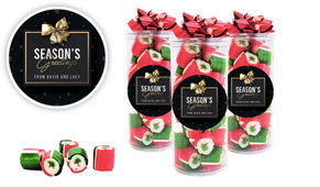 Glossy Gift Black Christmas Rock Candy Tube