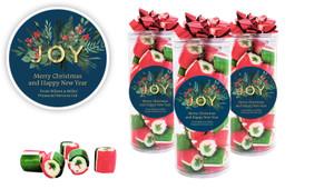 Joy Christmas Rock Candy Tube