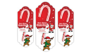 Flossing Personalised Candy Cane Card