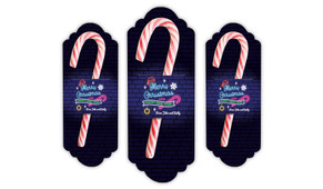 Neon Personalised Christmas Candy Cane Card