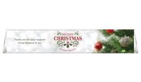 Bokeh Tree Custom Christmas Toblerone Bar