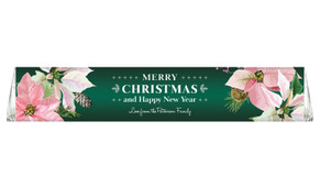 Pink On Green Personalised Christmas Toblerone Bar