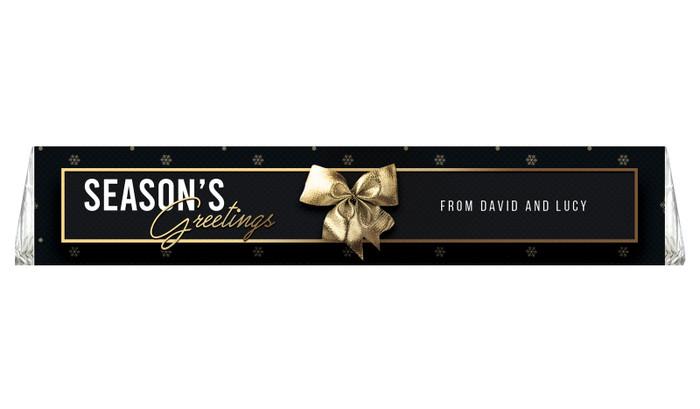 Glossy Gift Black Personalised Christmas Toblerone Bar