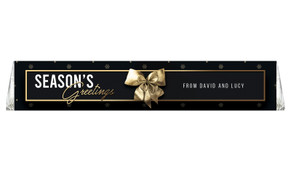 Glossy Gift Black Personalised Christmas Toblerone Bar
