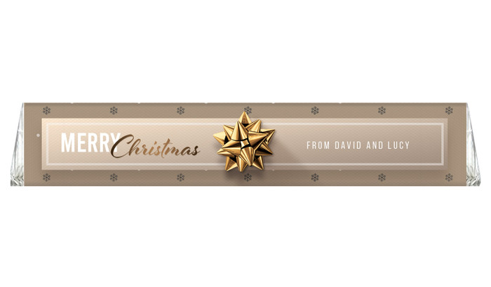 Glossy Gift Gold Personalised Christmas Toblerone Bar