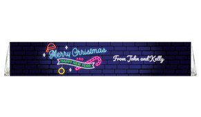 Neon Personalised Christmas Toblerone Bar