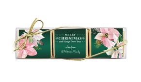 Pink On Green Christmas Mini Chocolate Trio Favour