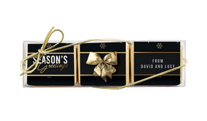 Glossy Gift Black Christmas Mini Chocolate Trio Favour