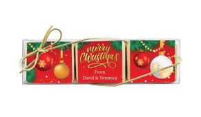 Red Festive Mini Chocolate Trio Favour